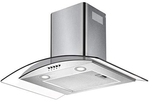 CIARRA Cappa Aspirante,60 cm,550 m³/h,Controllo Pulsanti,Filtri Grassi, Luce LED,Vetro,Cappe Camino...