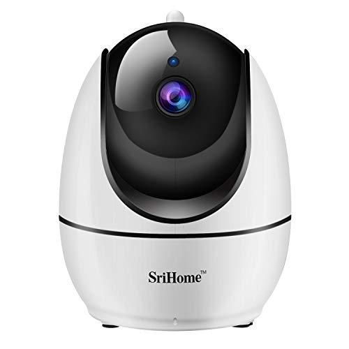 Sricam SH026 VideocamerediSorveglianza1080P, Telecamera WI-FI Interno Controllo remoto Con Audio Bidirezionale, Sensore di Movimento, Visione Notturna, Versione Italiana