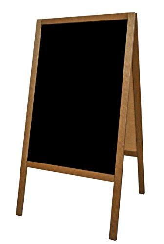 Cavalletto pubblicitario supporto pubblicitario espositore pubblicitario lavagna nero legno M 118 x...