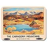 Cairngorm montagne Vintage Poster tappetino per il Mouse di scozia di treno circuito ferroviario Mouse Pad