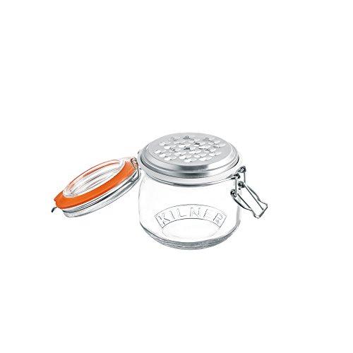 Kilner grattugia Set–Include Cliptop Jar, Trasparente