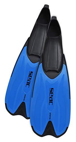 Seac Spinta, Pinne da Snorkeling a Scarpetta Chiusa Super Confortevole per Adulti e Bambini Unisex, Giallo, 36-37