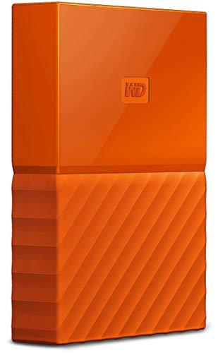 WD 1TB My Passport Hard Disk Esterno Portatile, USB 3.0, Arancione - WDBYFT0010BOR-WESN