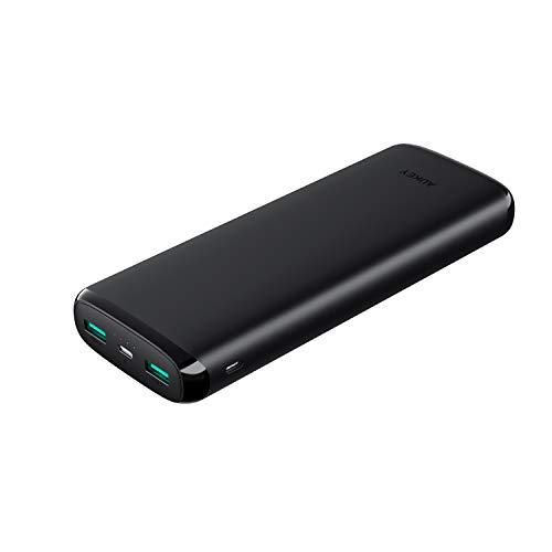 AUKEY Powerbank 20000mAh, Caricabatterie Portatile iPhone con Ingresso Lightning, Batteria Portatile Cellulare da 2 Porte per iPhone X / 8 Plus / 7/6, Samsung S9/ S9+, Xiaomi, HUAWEI, iPad ecc.