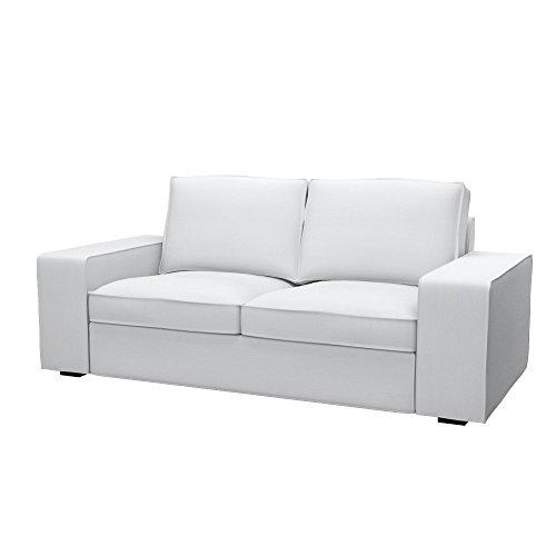Soferia Fodera Extra Ikea KIVIK Divano a 2 posti, Tessuto Elegance White