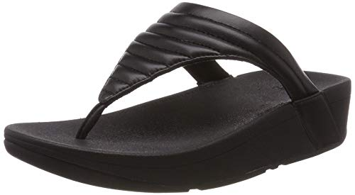 Fitflop Lottie Padded, Infradito Donna, Nero (Black 001), 39 EU