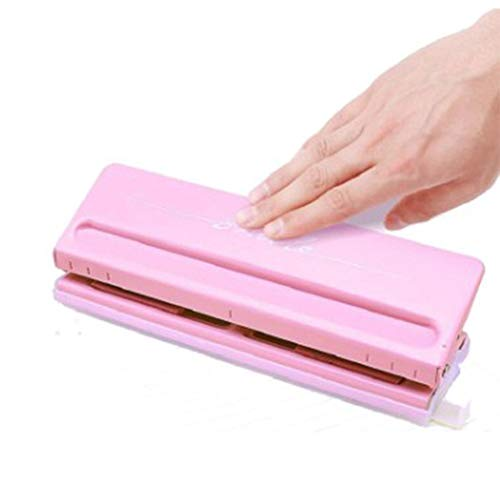 XuBa 6-Hole Adjustable Hole Punch for Handmade Loose Leaf Notebook Stationery