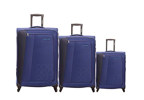 American Tourister Polyester Set Of 3 Blue Luggage Sets
