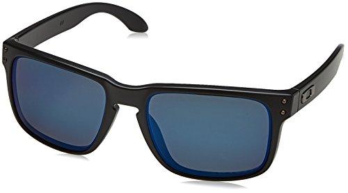 Oakley Sonnenbrille Holbrook, Gafas de Sol Polarizadas Unisex, Negro (Matte Black/Emerald Iridium Polarized), Talla única