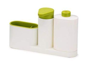 New Arrival Plastic 2 In 1 Multipurpose Sink Tidy Set Liquid Soap Dispenser, Standard, Multicolour 4