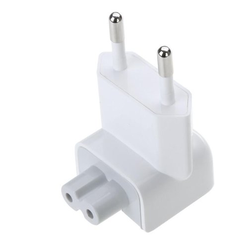 CABLESETC EU Duckhead AC Plug 2 Prong for Apple iPhone MacBook iBook iPad Power Adapters (White)