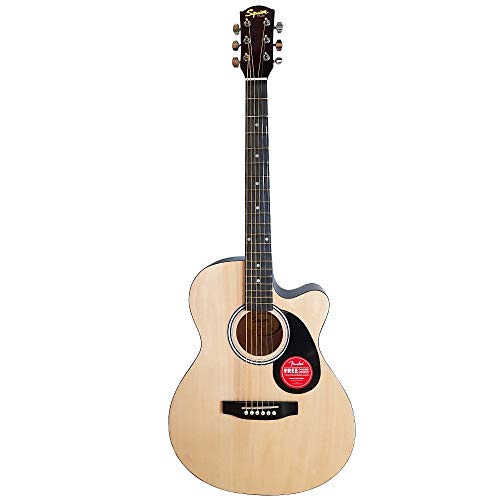 Fender SA 135C 39 Inch 6 String Cutaway Acoustic Guitar - Hardwood Fretboard - Natural