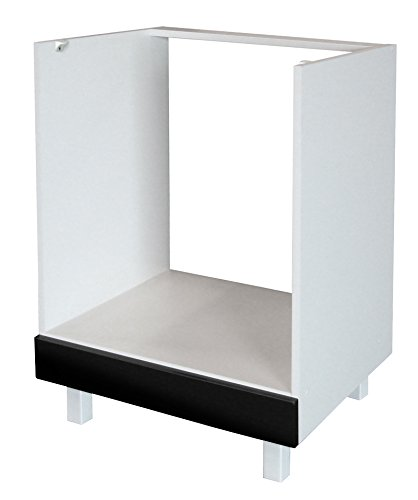 Berlenus CF6BN - Base componibile cucina per forno ad incasso, da 60 cm, colore: Nero superbrillante