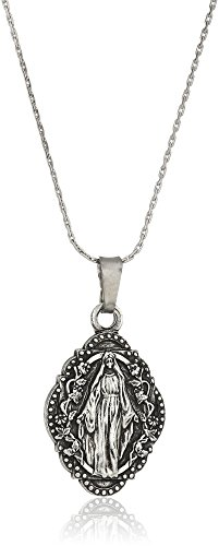 """Alex and Ani Womens Mother Mary III 32"""" EN, Necklace Necklace, Rafaelian Silver, Expandable"""