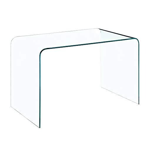 Bricozone Scrivania Scrittorio da Ufficio e Salotto Curvato, Tavolo Luxury Z-02, Design Curvo e...