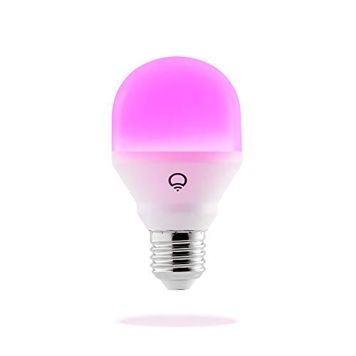 LIFX Mini (E27) Lampadina a LED Wi-Fi Smart, regolabile, multicolor, dimmerabile, non richiede un hub, funziona con Alexa, Apple HomeKit e Google Assistant