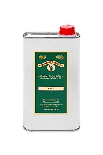 Hermann Sachse Olio per legno, incolore, per interni, 1 litro di olio duro naturale per mobili, cura...