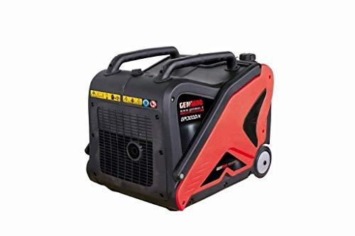 Genmac generador Fuente de alimentación de 3000Motor-generador SILENCIOSO 3,1kw Capacidad 9L Inverter fácil de Transportar con Ruedas