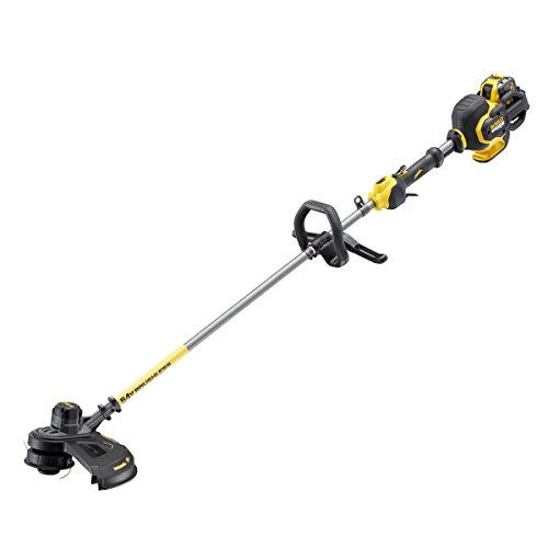"""The DEWALT DCM571 """"XR Flexvolt"""" Brush Cutter boasts XR FLEXVOLT 54V brushless technology, which provides exceptional performance, reliability for the most challenging jobs. DEWALT claims 54V Li-Ion battery offers runtime and performance that has never been seen before, making it a reliable tool for professional tradesmen to undertake heavy-duty applications without the need for mains power."""