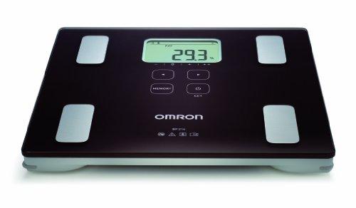 OMRON BF214 Bilancia e Misuratore Grasso Corporeo, Indice di Massa Corporea, Percentuale Muscolatura...
