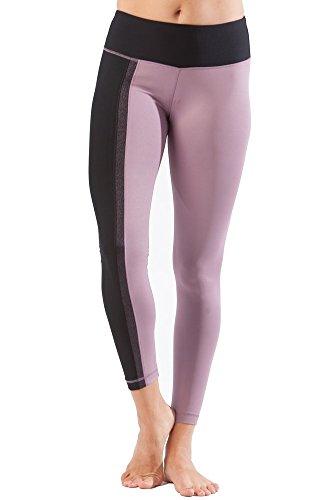 90Gradi di Reflex-Performance Leggings-Traspirante-PW79520(Tayo Yam/Nero) (Grande) Sport Pantaloni Yoga Jogging, Pantaloni da Corsa