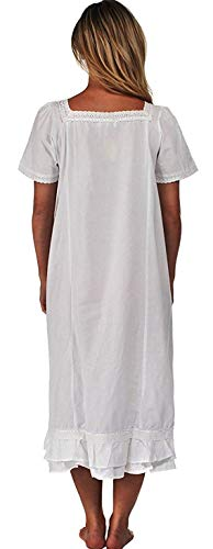 Inconnu The 1 for U 100% Cotton Robe de Nuit Manches Courtes - Evelyn - Blanc, XXL 24