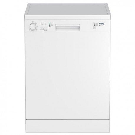 Beko DFN100 Autonome 12places A+ lave-vaisselle - lave-vaisselles (Autonome, Blanc, Full size (60 cm), Blanc, boutons, Rotatif, LED)