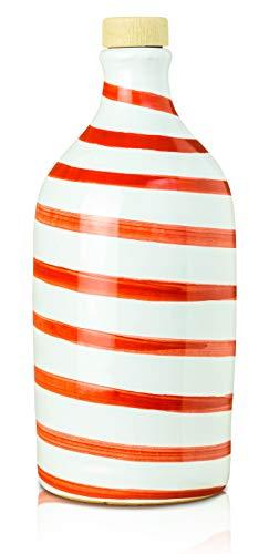 Muraglia - Olio Extra Vergine di Oliva Orcio Ceramica Capri Rosso (Fruttato Intenso) 500ml