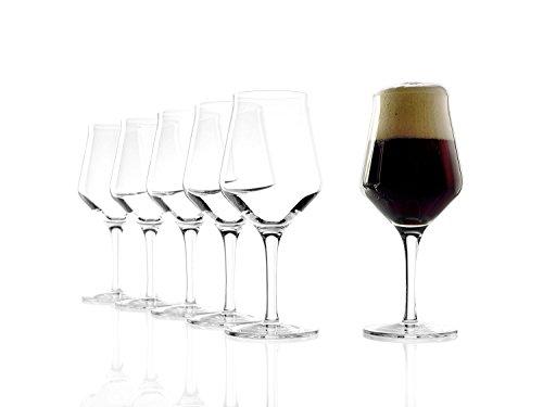 Stölzle Lausitz Bicchieri da birra Craft 0,4l, 430 ml, set da 6 pezzi, altamente funzionali, bicchiere da birra dal design nuovo, adatto a tutte le birre artigianali