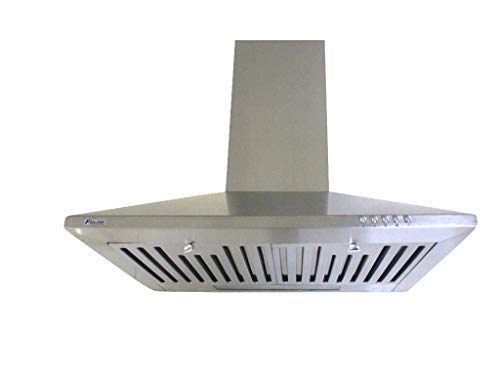 Felixe Kitchen Chimney Hood 60 Stainless Steel (Sapphire) Push Button 1100m3/hr with Installation Kit & 6ft Expandable Pipe