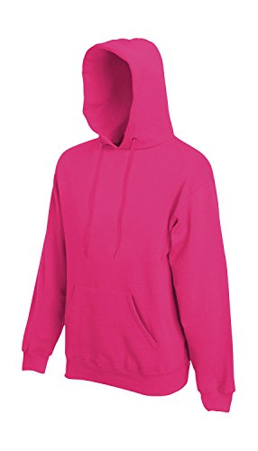 Sweatshirt * Hooded Sweat * Fruit of the Loom Fuchsia