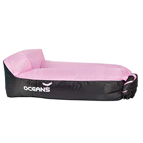 Ocean 5 Air Lounger, Divano ad Aria Gonfiabile e Impermeabile, Loungebag con Cuscino Integrato incl. Sacca, Chaise Longue Gonfiabile Come divanetto all'aperto al Parco, Campeggio, Festival