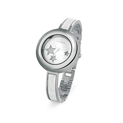 OPS!OBJECTS Glitter Lux, Orologio da polso Donna 36 mm, Colore Argento, OPSPW-364