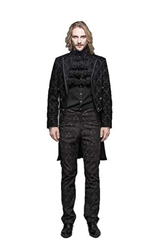 Devil Fashion Giacca a maniche lunghe in cotone gotico invernale Steampunk Giacca a tuffo per uomo, 3XL