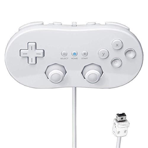 Controlador de Wii Classic Controller Global clásico para Nintendo Wii Blanca