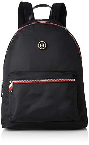 Tommy Hilfiger - Poppy Backpack, Mochilas Mujer, Negro (Black), 13x40x30 cm (B x H T)