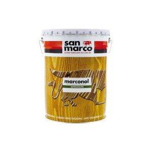 San Marco MARCONOL Impregnante Protettivo colorante per legno esposto all'esterno, colore: Noce scuro, size: 1 lt