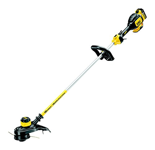 The DEWALT DCM561P1S 18v Li-Ion XR Cordless Brushless Strimmer is equipped with an impressive cordless strimmer motor that benefits from fast recharge speed and longer runtime. Combined with a decent sized battery and a variety of features to make short work of strimming, there is so much to like with this strimmer.