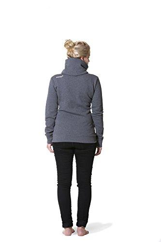 JUMPSTER Turtleneck Damen & Herren EXQUISITE mit Kragen, sehr kuscheliger Sweater, langer Hoodie (slim / regular) Slim Fit Grau M - 2