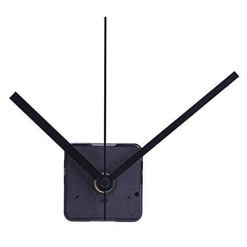 WINOMO Kit movimento orologio silenzioso per sostituzione orologio fai da te (nero)