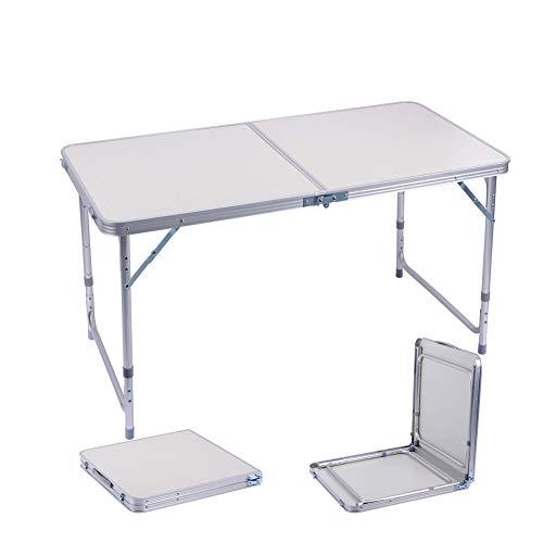 Sunflo Tavolo Pieghevole 1,2 m Portatile in Lega di Alluminio Regolabile Indoor Outdoor Tavolo da...