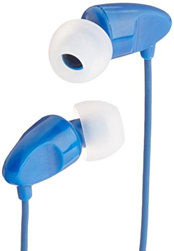 AmazonBasics In-Ear Headphones with universal mic (Blue)