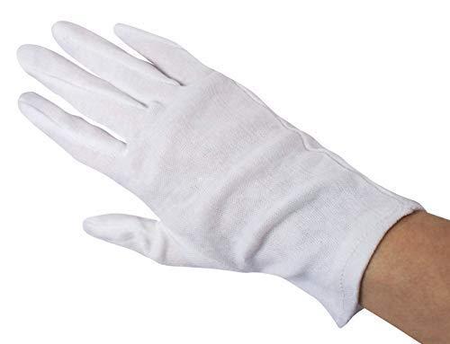 12 Coppia Cotone Maglia Guanti Guanti cotone bianco sbiancato Guanti maglia varie misure Medi-Inn -...
