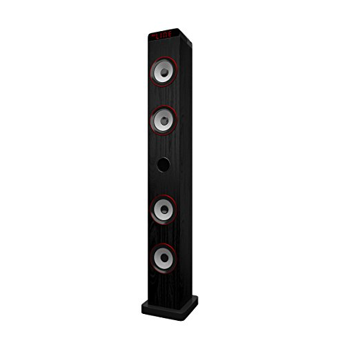 Primux TW01 - Torre de sonido con Bluetooth (30W, FM) color negro