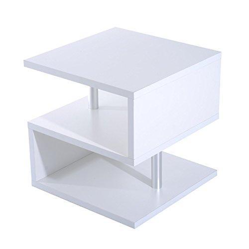 homcom Moderno Tavolino Basso da Salotto in Legno 50 x 50 x 50cm Bianco