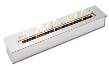 5L Bioethanol Burner, Deluxe Burner, Stainless Steel, Beautiful Ribbon Fire