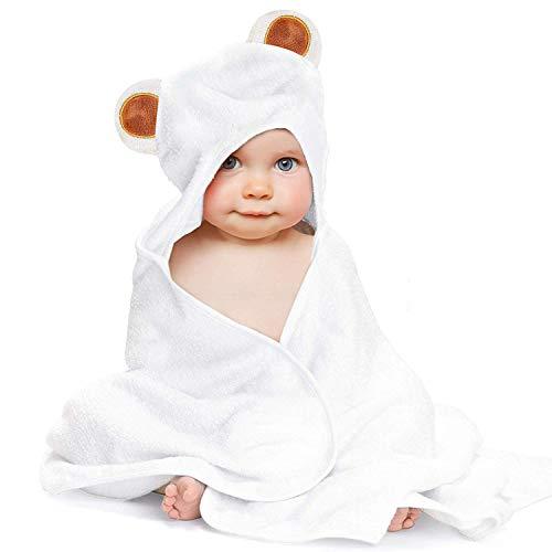 LATTCURE Kapuzenbadetuch Soft Warm und Löscht das Wasser Gut Badetuch Handtuch mit Kapuze fürs Baby und Kleinkind Kapuzenhandtuch 90 * 90 CM