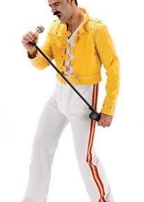 Mens 1980's music fancy dress costume - I Will Rock You - standard size (disfraz)