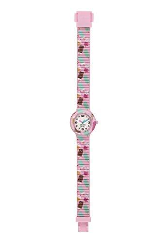 Orologio HIP HOP unisex kid KIDS FUN quadrante bianco e cinturino in silicone rosa, movimento SOLO TEMPO - 3H QUARZO