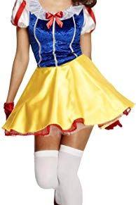 Smiffys Disfraz Fever de cuento de hadas, con vestido, enagua adjunta, banda para el pelo - L
